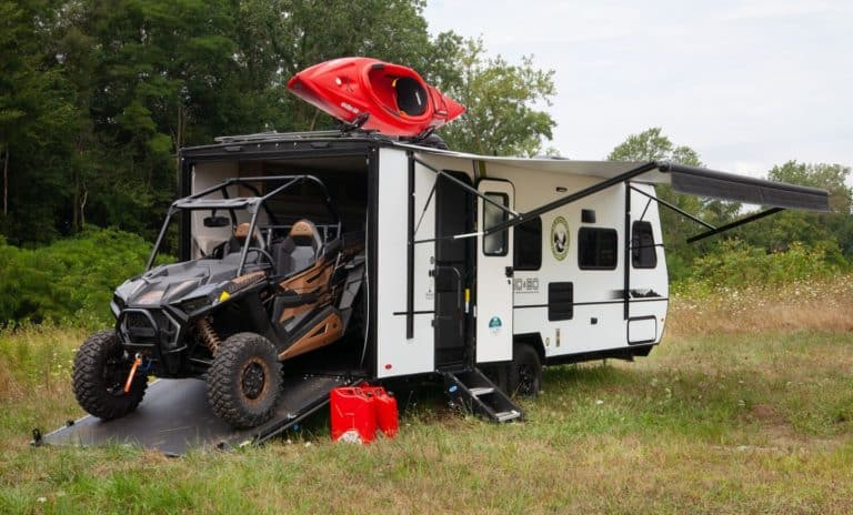 small toy hauler camper